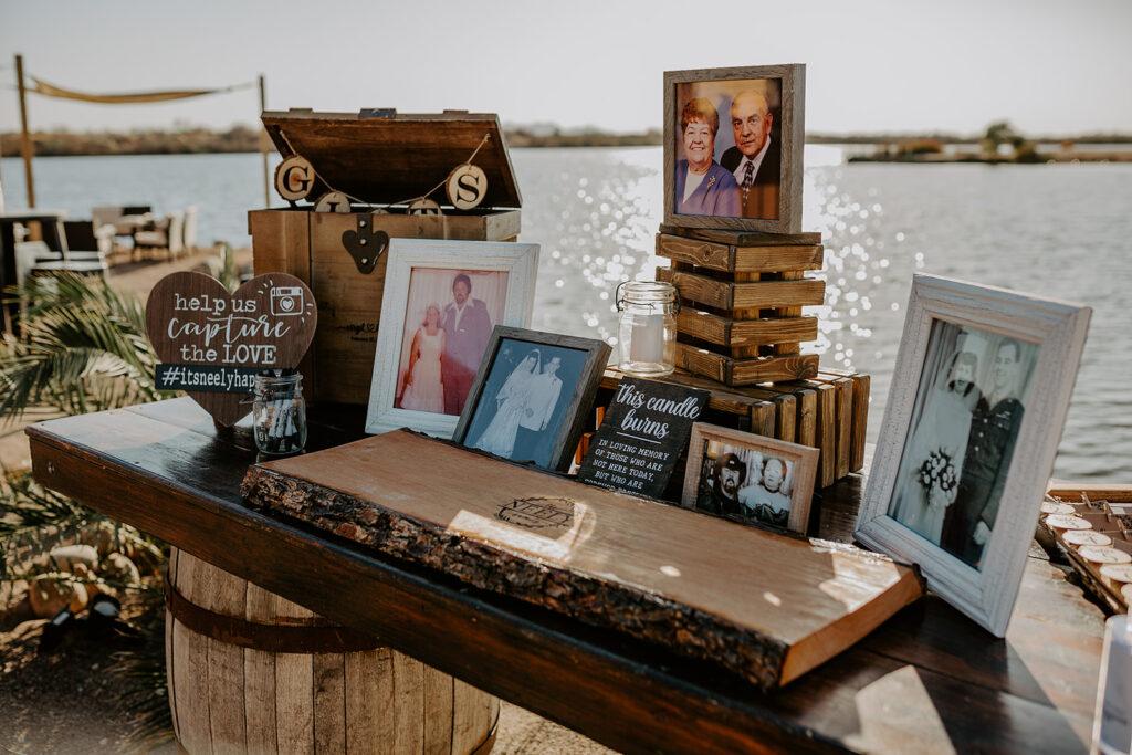 unique wedding guest book and memorial photos
