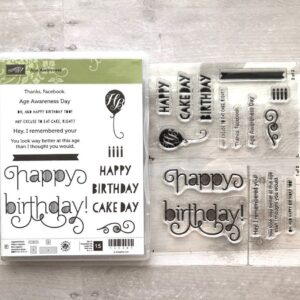 Stampin Up Retired Age Awareness Stamp Set for Sale