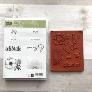 Stampin Up Retired Amazing You Stamp Set