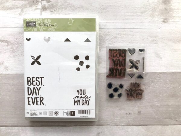 Stampin Up Retired Best Day Ever Stamp Set