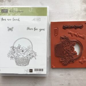 Stampin Up Retired Blossoming Basket Stamp Set