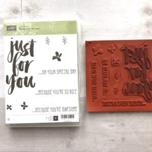 Stampin Up Retired Botanicals for You Stamp Set