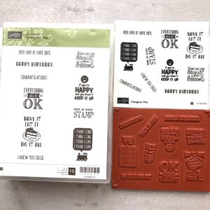 Stampin Up Retired Designer Tee Stamp Set for Sale