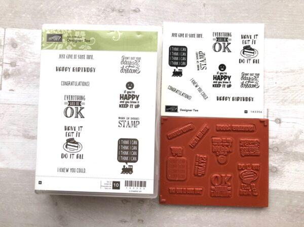 Stampin Up Retired Designer Tee Stamp Set for Sale