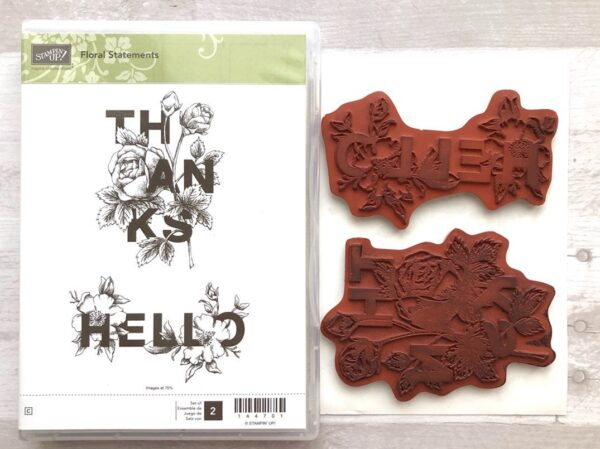 Stampin Up Retired Floral Statements Stamp Set