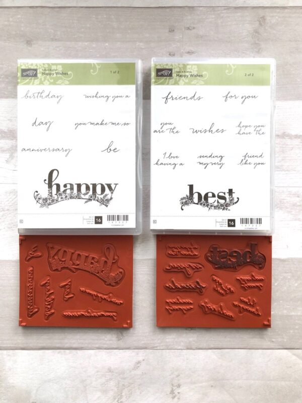 Stampin Up Retired Happy Wishes Stamp Set for Sale