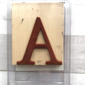 "Stampin' Up! Retired Monogram ""A"" Stamp for Sale"