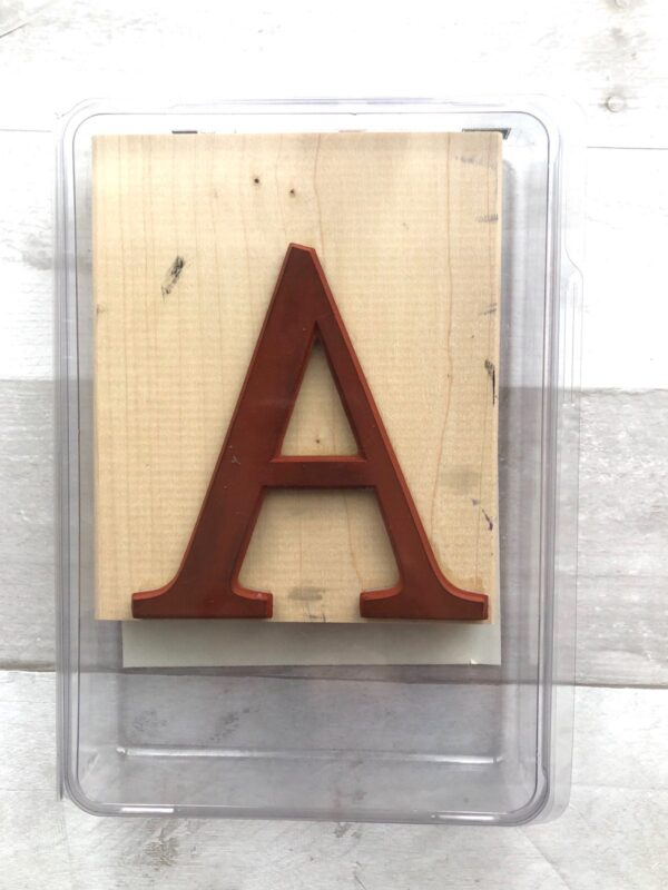 """Stampin' Up! Retired Monogram """"A"""" Stamp for Sale"""