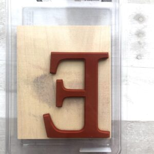 "Stampin Up Retired Monogram ""E"" Stamp for sale"