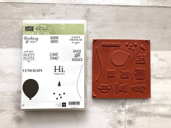 Stampin Up Retired Party Pants Stamp Set