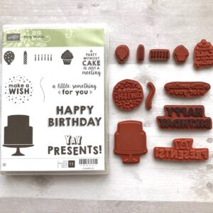 Stampin Up Retired Party Wishes Stamp Set for Sale