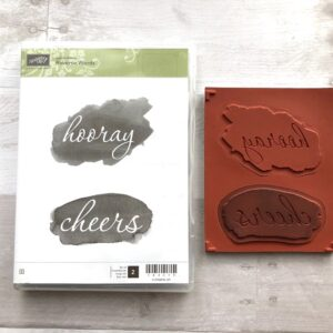 Stampin Up Retired Reverse Words Stamp Set