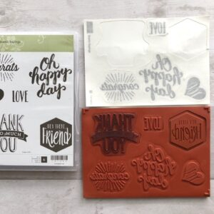 Stampin Up Retired Scenic Sayings Stamp Set