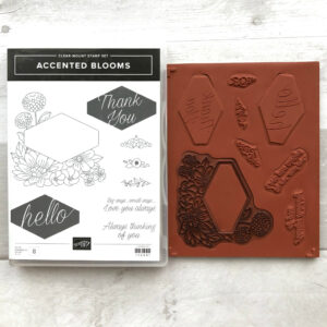 retired stampin up accented blooms stamp set for sale