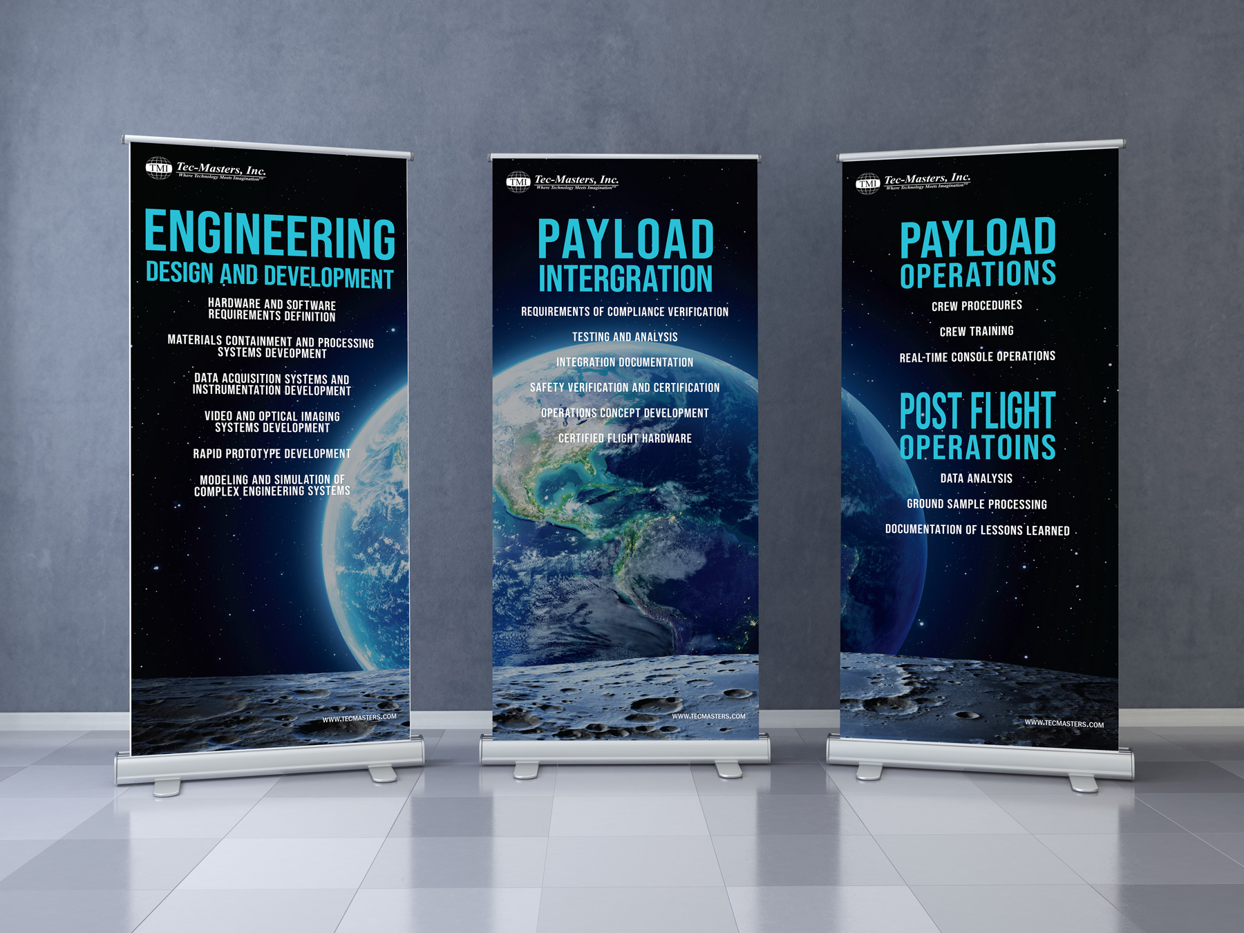 Digital concet of banners used for ISS Conference