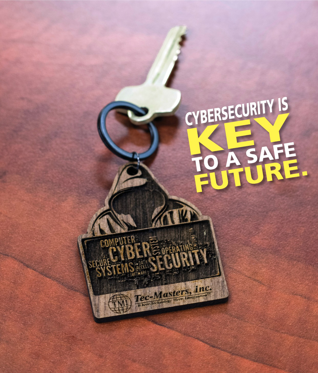 Tec-Masters cbersecurity is key to a safe future key-chain