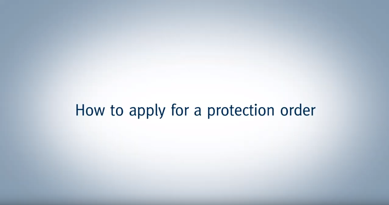 How to apply for a protection order