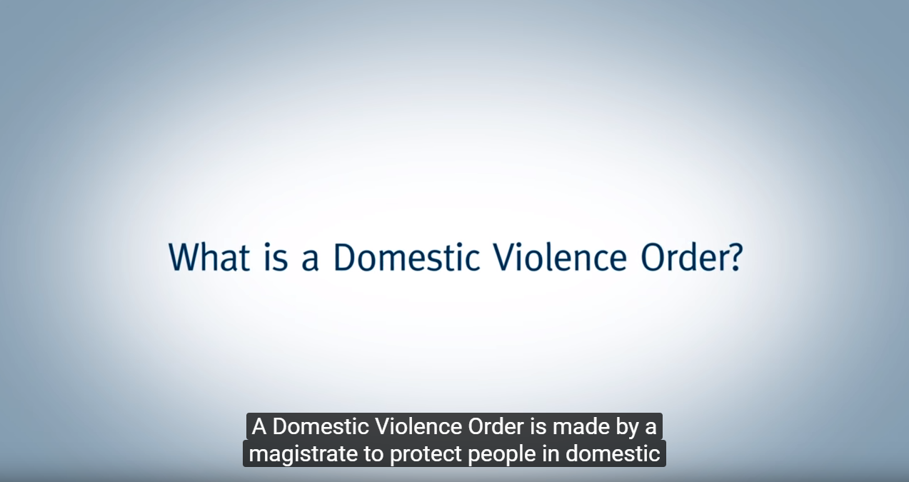 What is a domestic violence order?