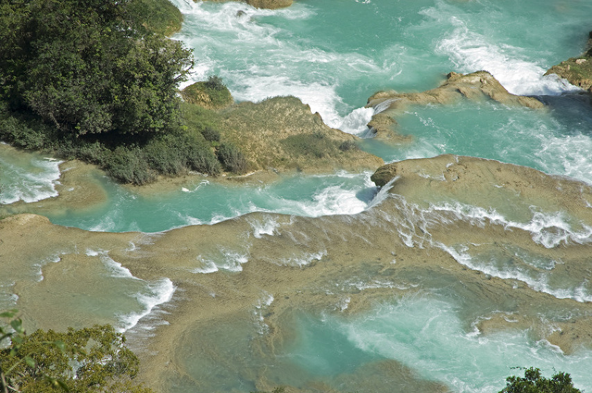 A horizontal crop of Rio Santo Domingo at Las Nubes with a 24-120mm lens set at 110mm