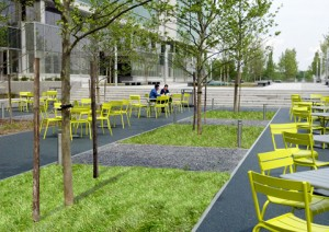 BASF North American LEED Platinum Headquartes featuring filterpave