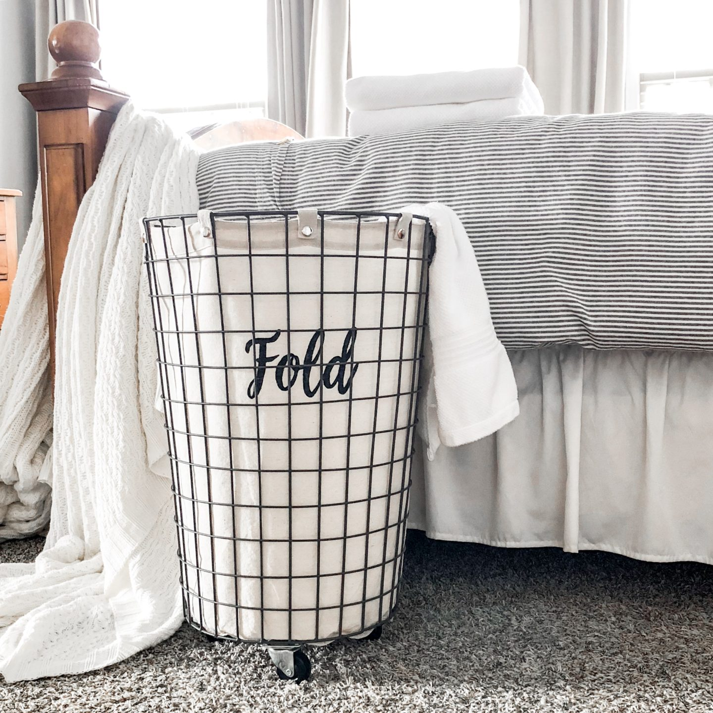 Making Your Own Laundry Basket Labels