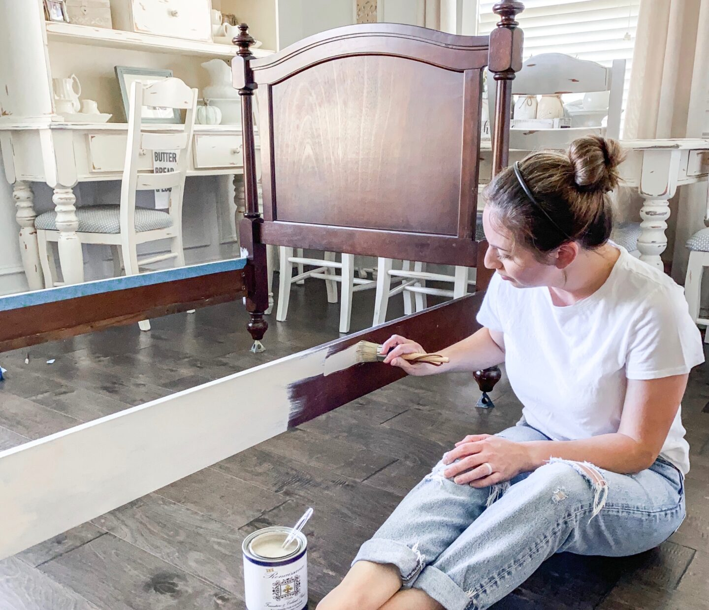 How To Chalk Paint an Old Bed to Make It Look New!