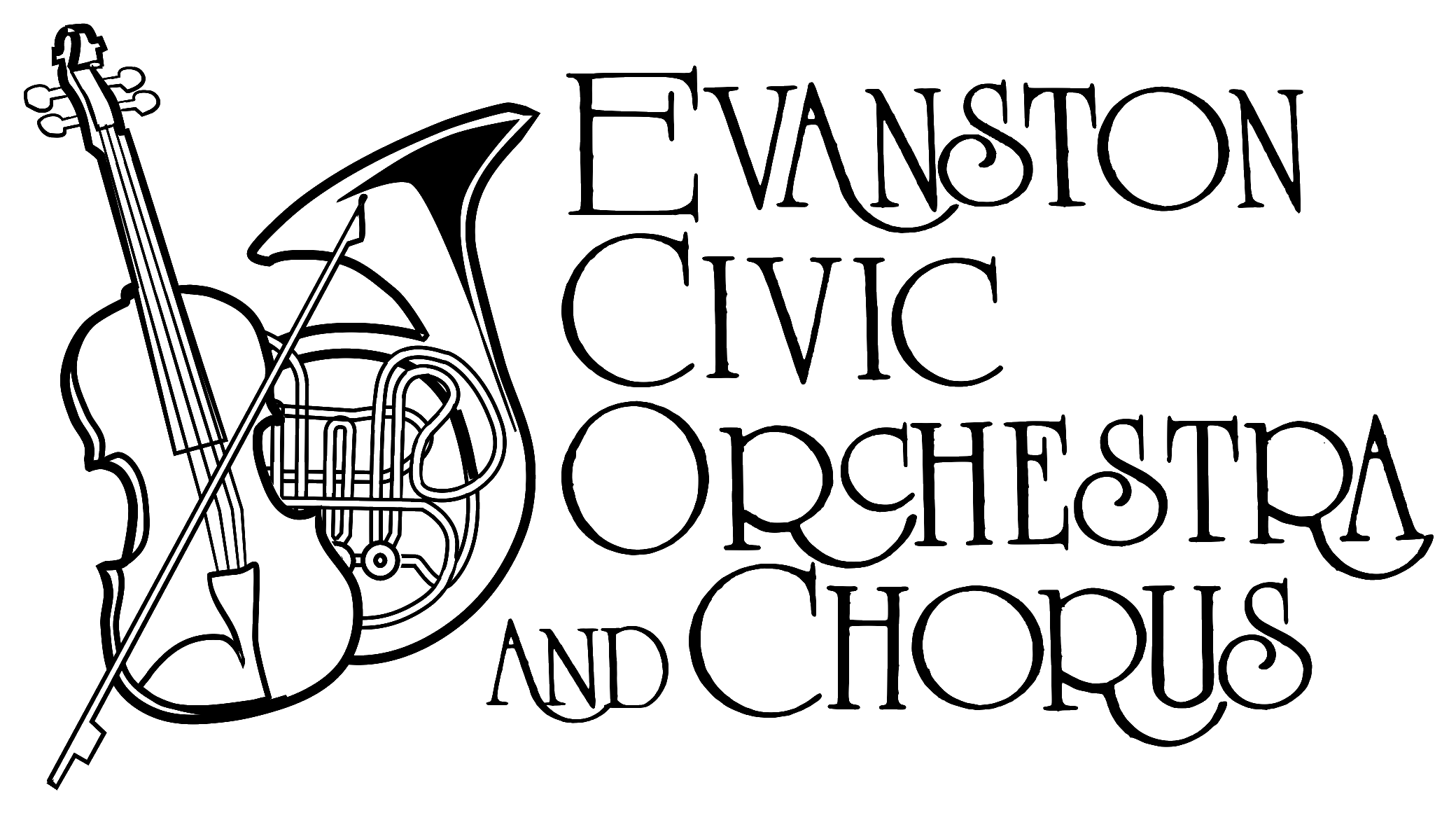 Evanston Civic Orchestra & Chorus Logo