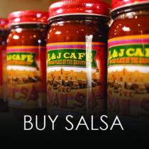L&J Cafe Red Salsa Banner