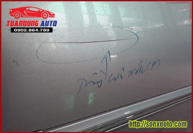 tư vấn sơn xe ô tô bị xước