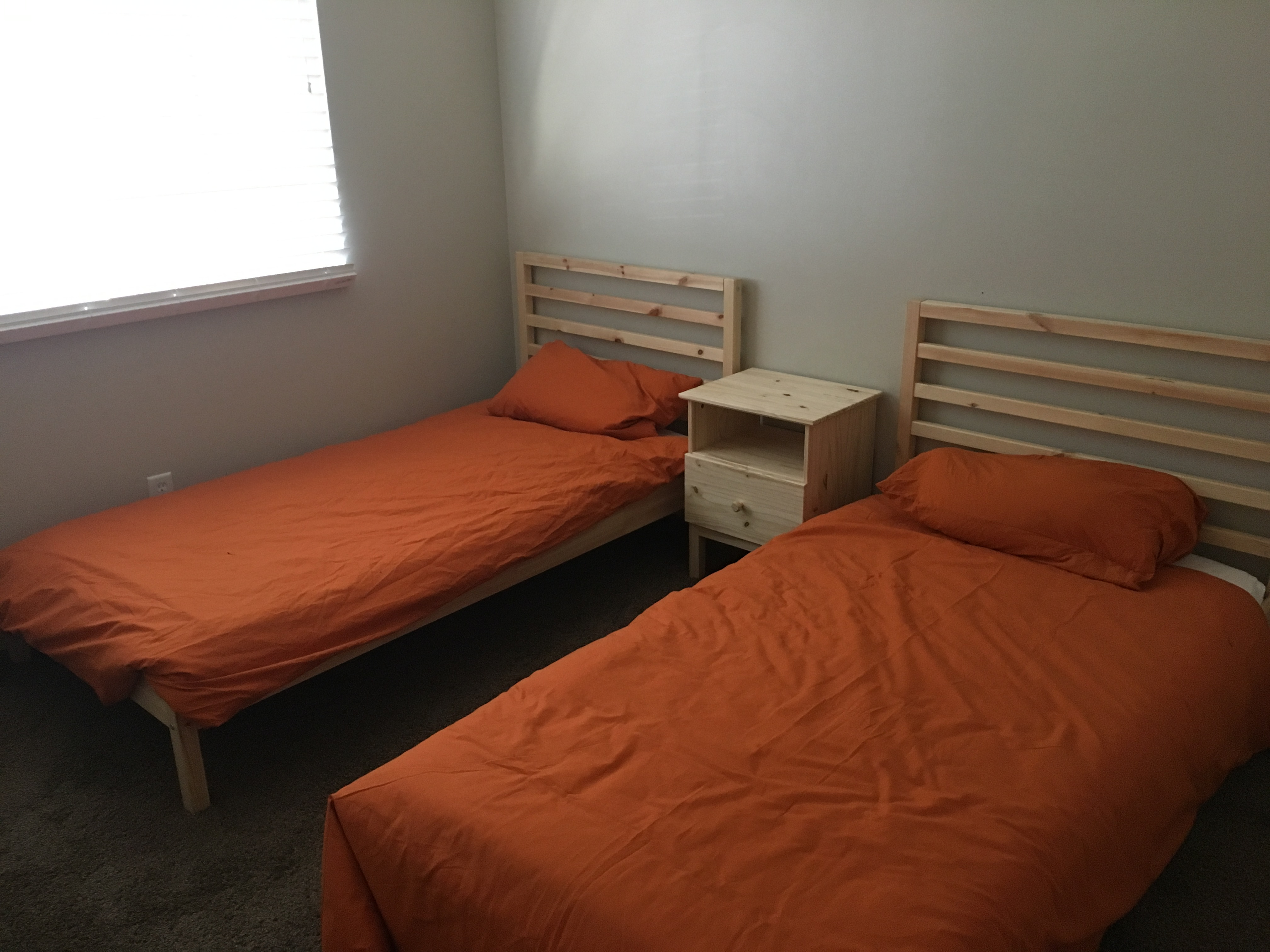 Upstairs twin double room