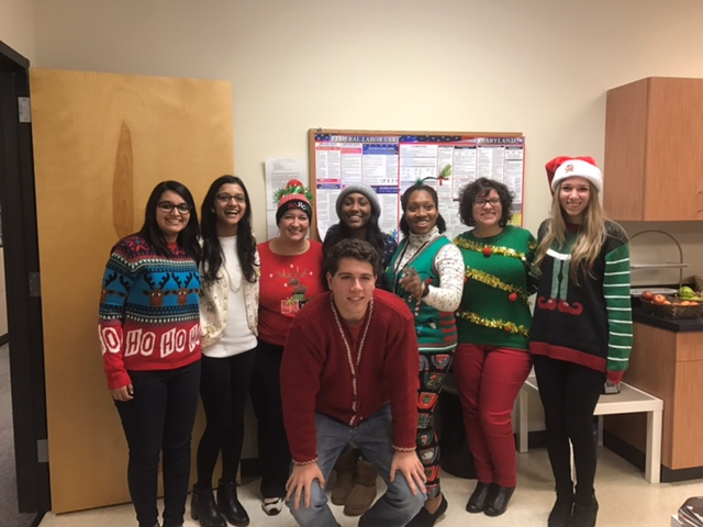 Participants of Ugly Sweater Competition