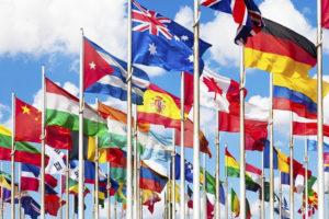 UN flag display