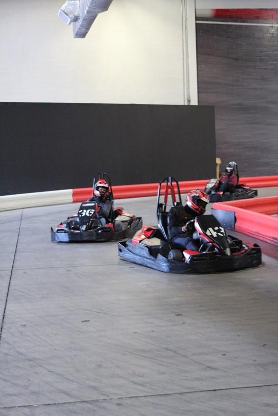 Go-Kart Racing Participants In Action