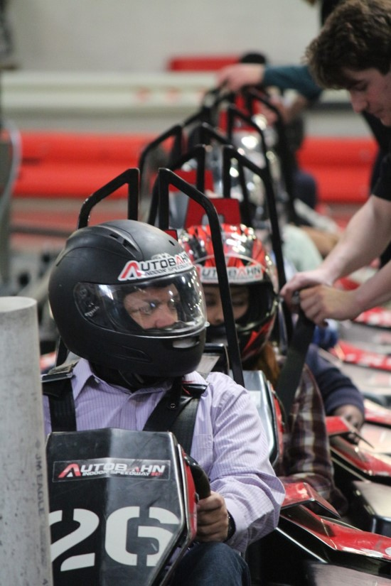 Go-Kart Participants at Starting Line