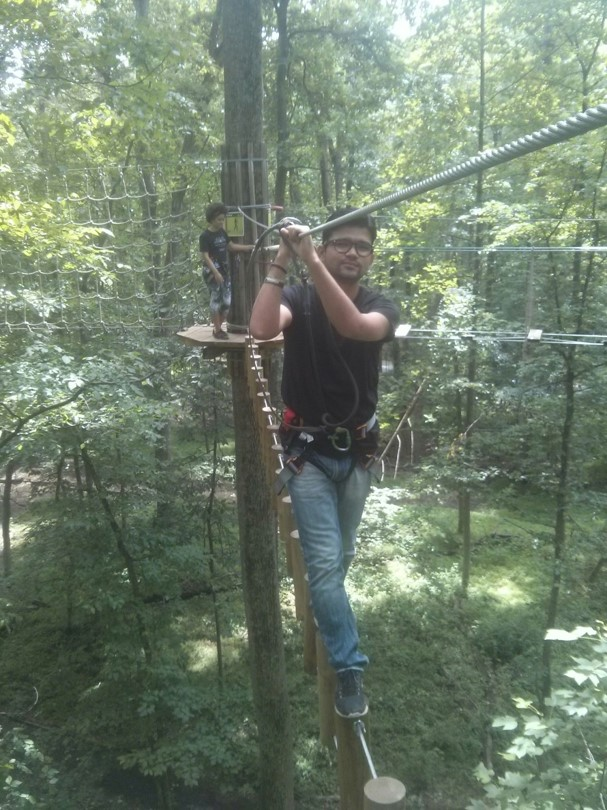 Zip-line Participant