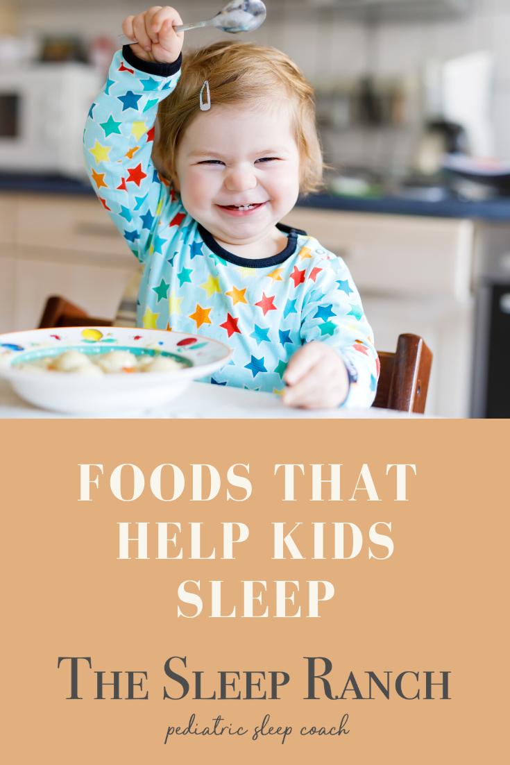 Foods that help kids sleep
