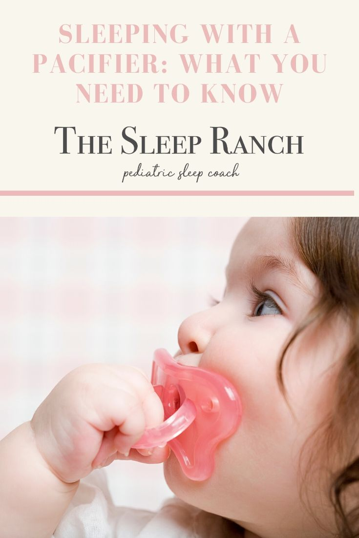 sleeping with pacifier