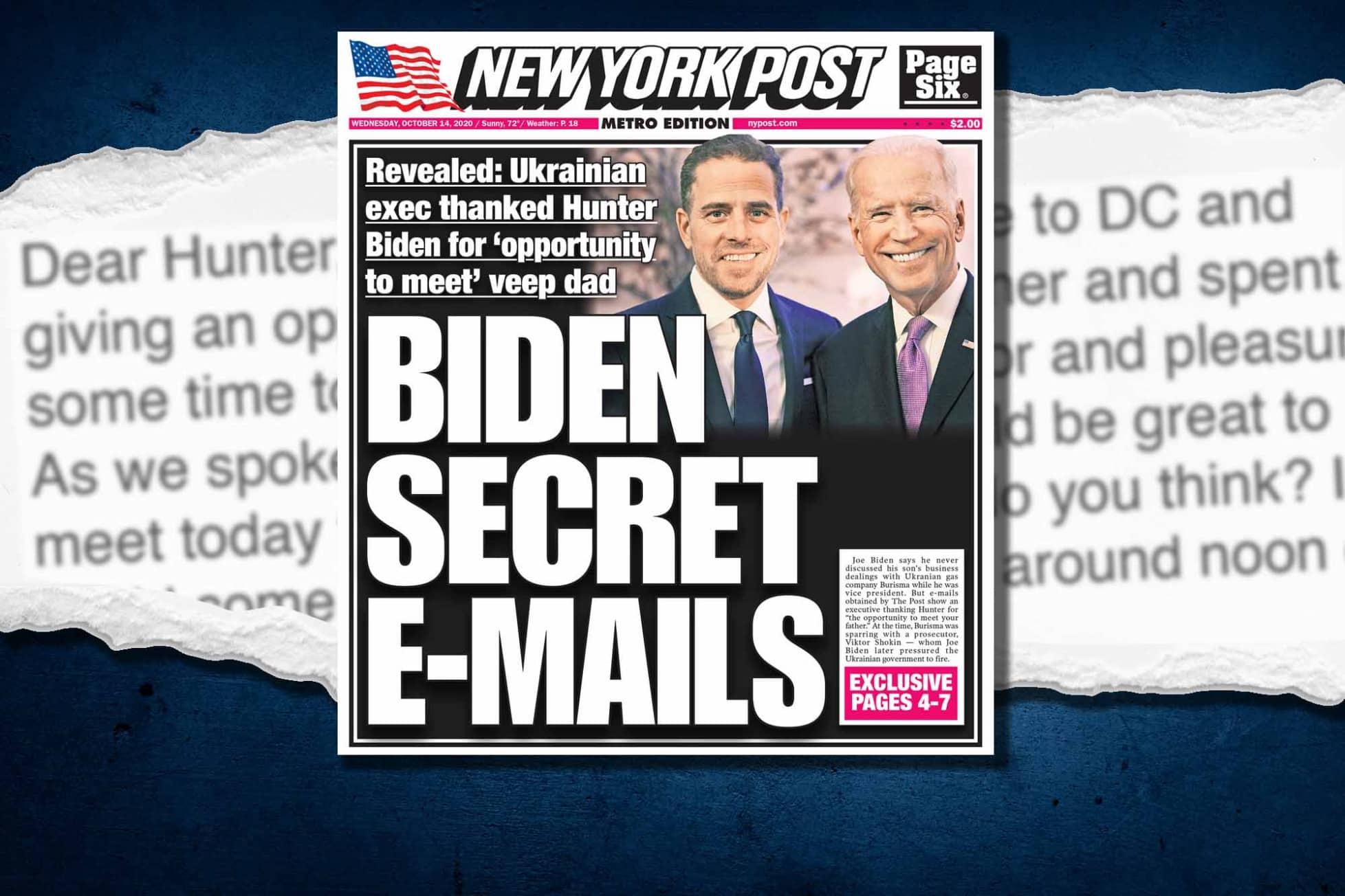 Hunter Biden Secret Burisma Emails, NY Post