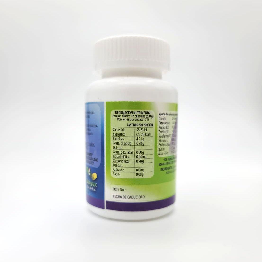 Espirulina & Folic Acid - Back