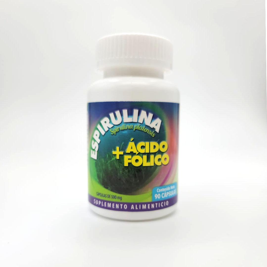 Espirulina & Folic Acid - Front