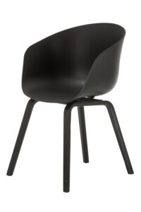 Macey Chair Black with Black Legs