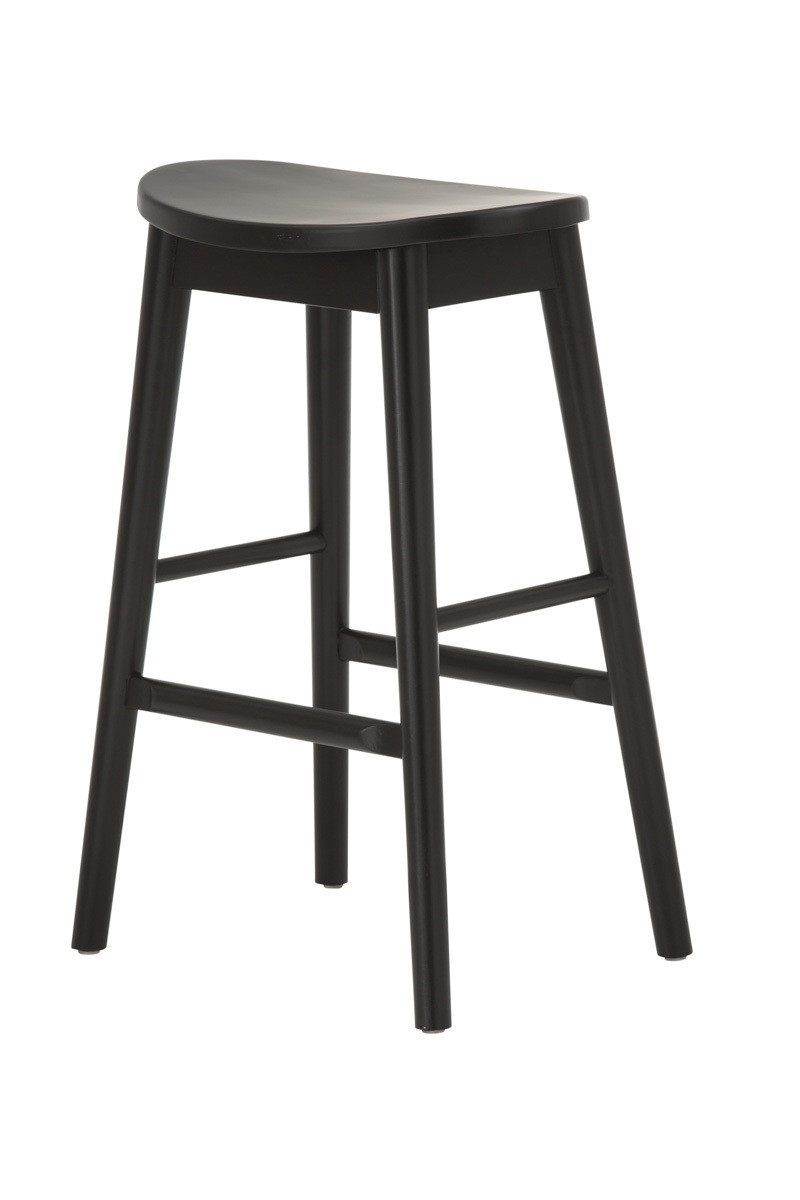 Scandinavian Bar Stool - Black