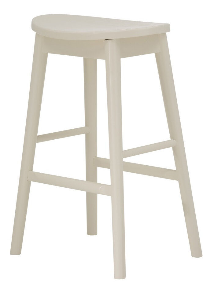 Scandinavian Bar Stool - White