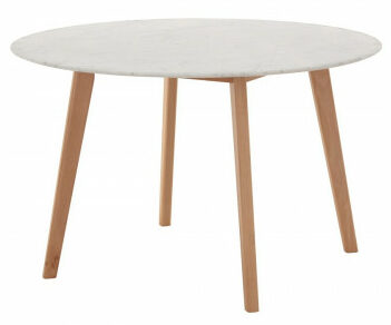 Alfa Round Marble Dining Table 120 cm