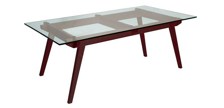 Replica Sticotti Glass Dining Table Walnut