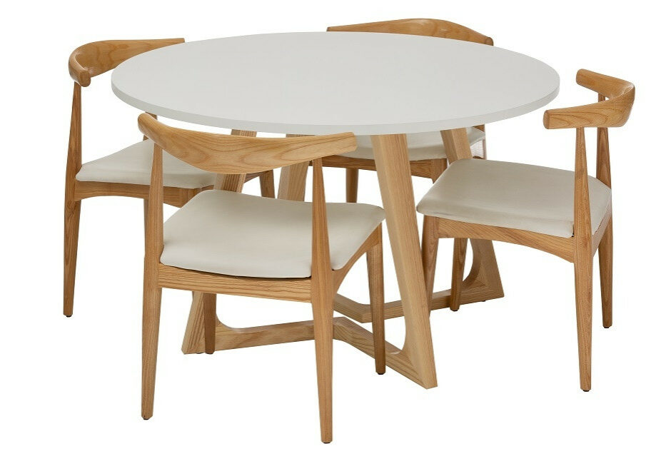 Replica Kantet Table with Replica Elbow Chairs