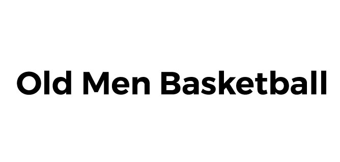 Old Men Basketball Logo