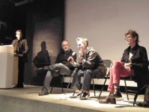 (l-r) Tirza True Latimer (moderator), Rudy Lemcke, Nomi Talisman, E.G. Crichton (panelists)