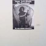 "Joan Jett Blakk for President (late 80s) Dimensions: 28 x 21"" Medium: Poster Joan Jett Blakk (Performance Artist), Marc Geller (Photographer), Courtesy GLBT Historical Society"