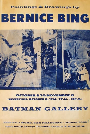 Figure 2. Charles Snyder, Batman Gallery Poster. 1961. Collection of Lenore Chinn